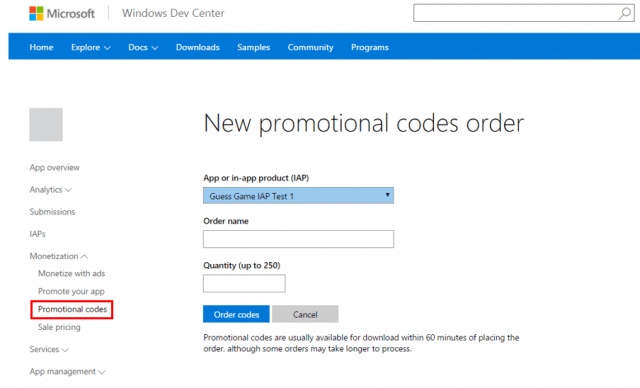 Microsoft enables developers to use promotional codes on apps and in-app purchases