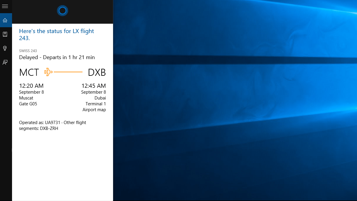 Cortana-flight-1