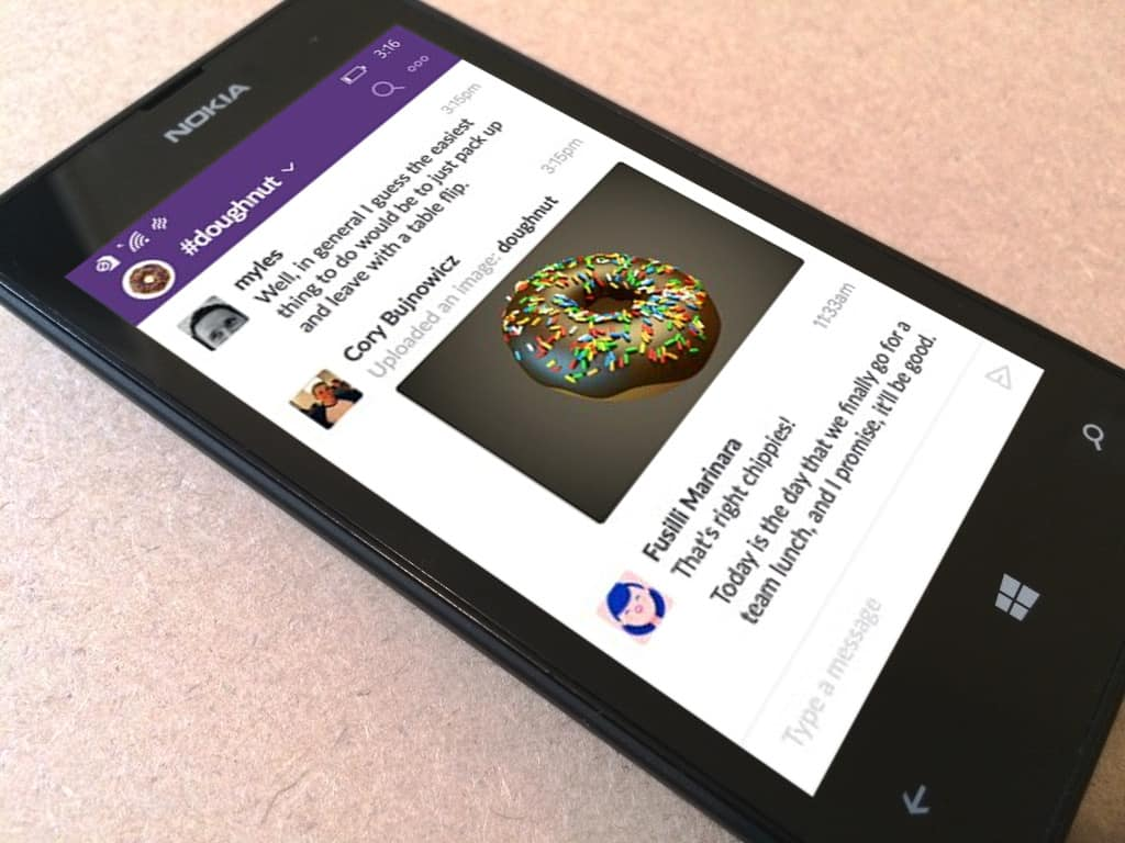 Slack for Windows Phone