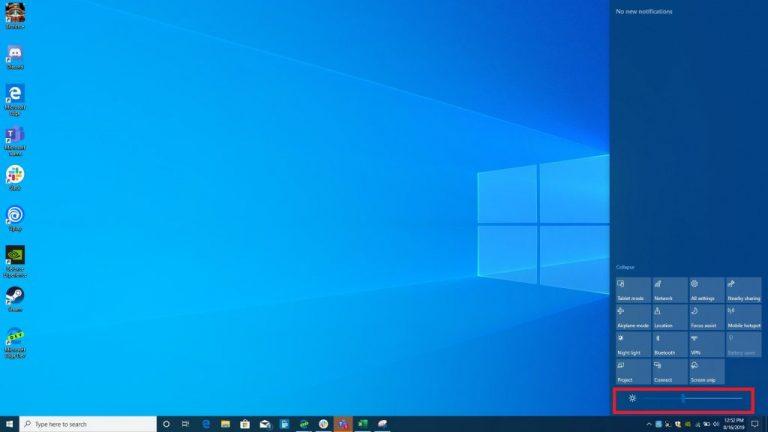 How to adjust screen brightness in windows 10
