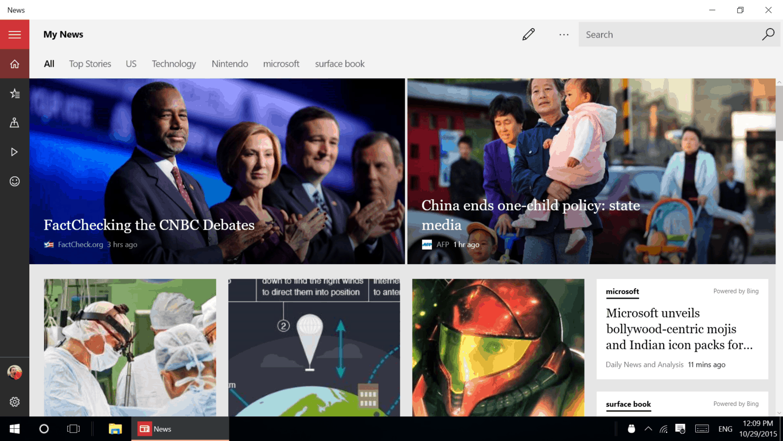 News home page