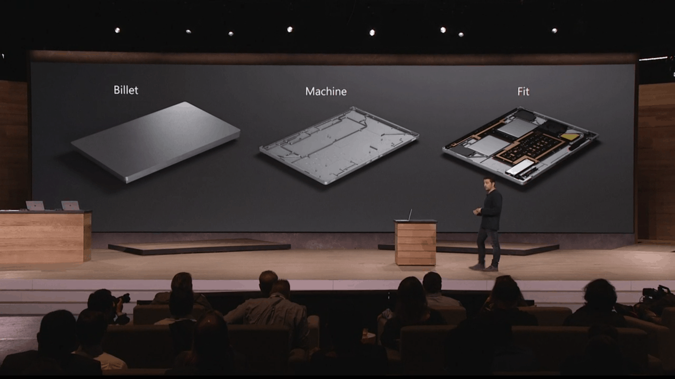 Surface Book manufacturing process.