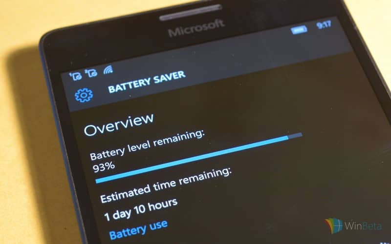 how to show battery life windows 10
