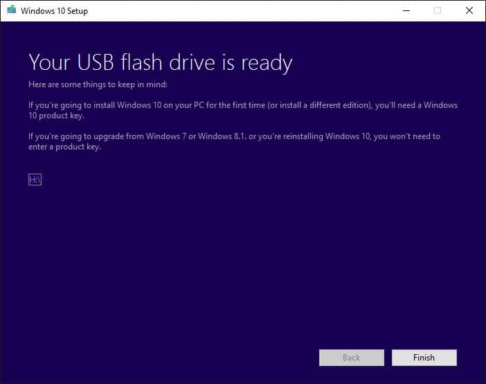 Your USB flash drive is ready!