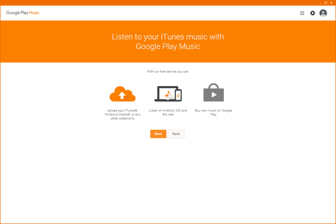 settings Customizable. Google Play Music Desktop Player adds a level of customization that simply isn't there in the web player. You can change your theme, customize the colors, send your play history straight to last.fm, and it even has a built-in equalizer.