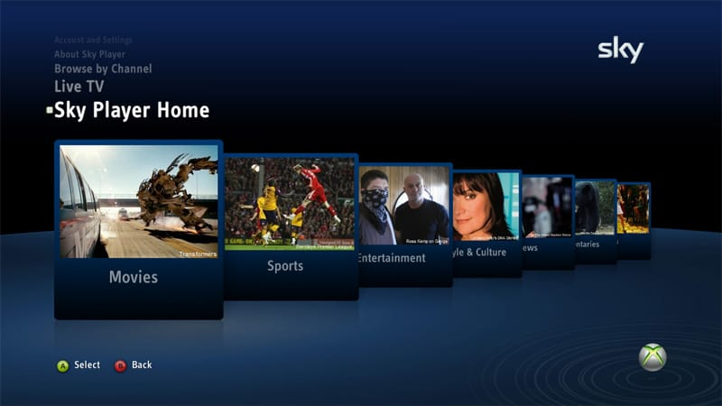 SKY TV app for the Xbox One is 'in development'   OnMSFT com