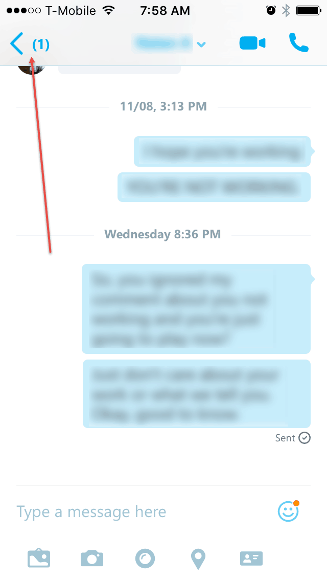 how to know if a skype message is read