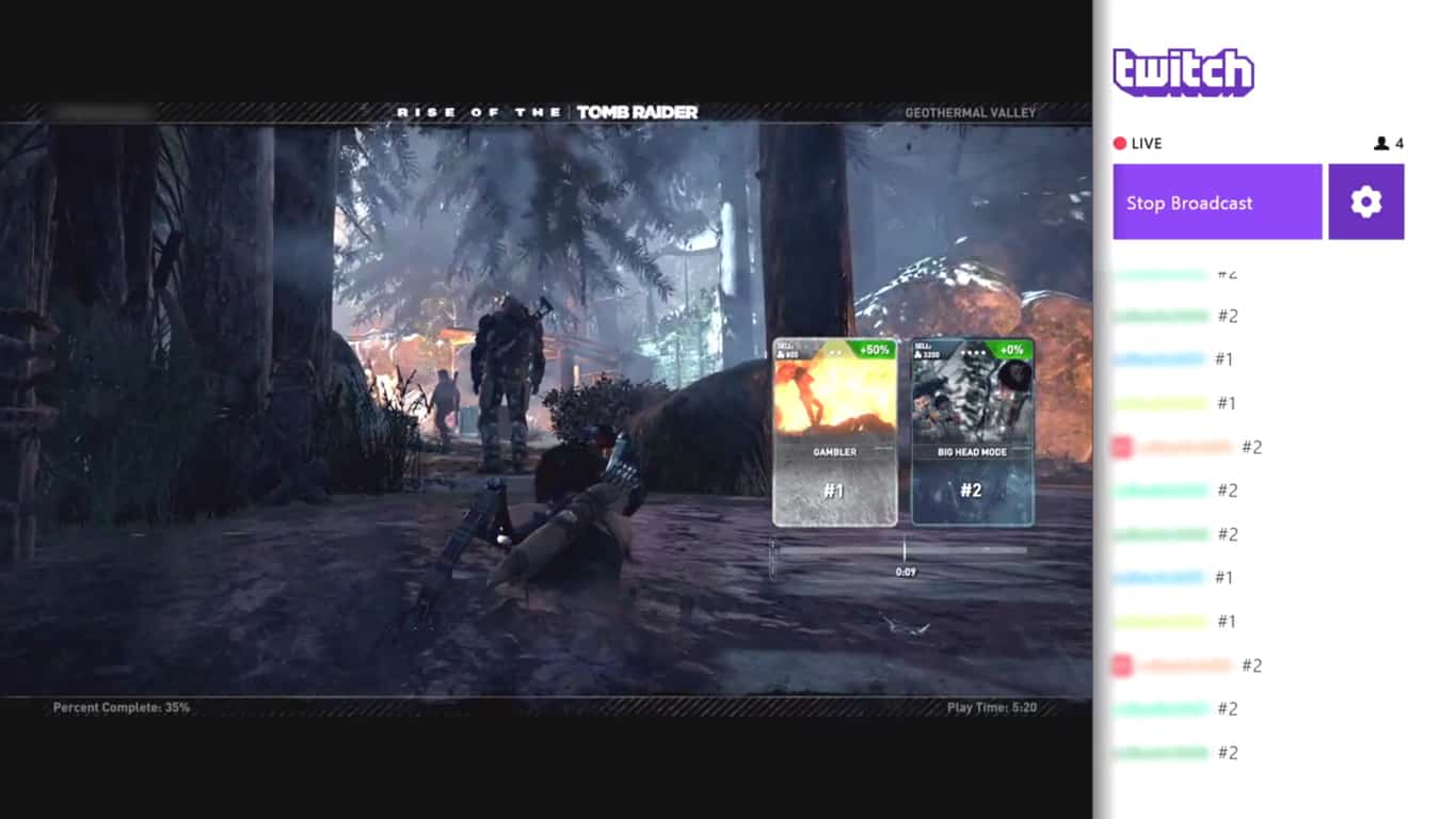 Rise of the Tomb Raider on Xbox One Twitch