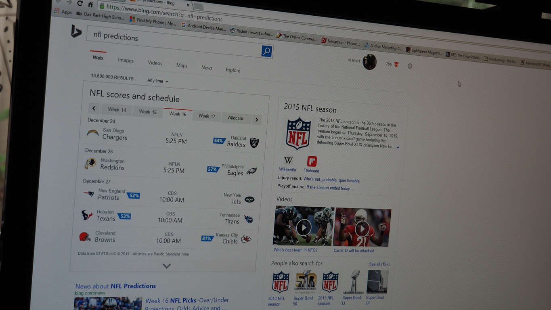 Bing Predicts Week 16