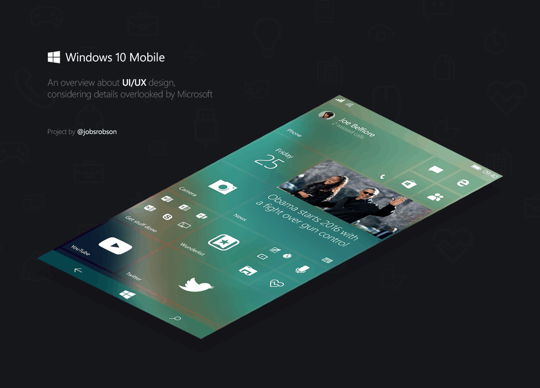 This design makes windows 10 mobile absolutely beautiful for Mobel design
