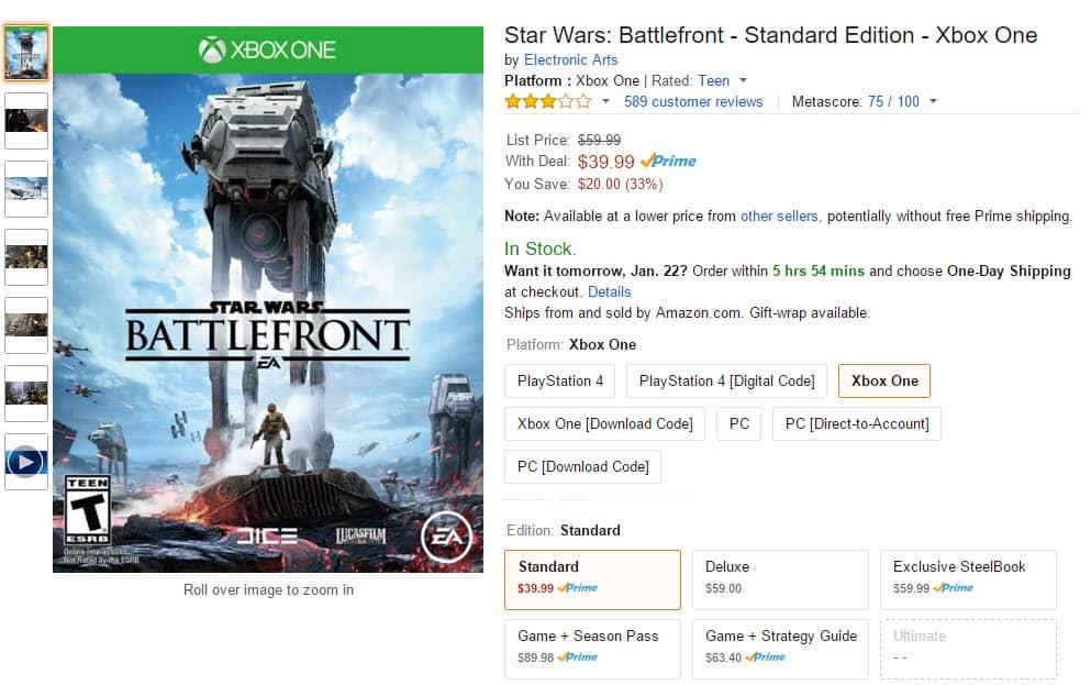 Amazon Star Wars Battlefront