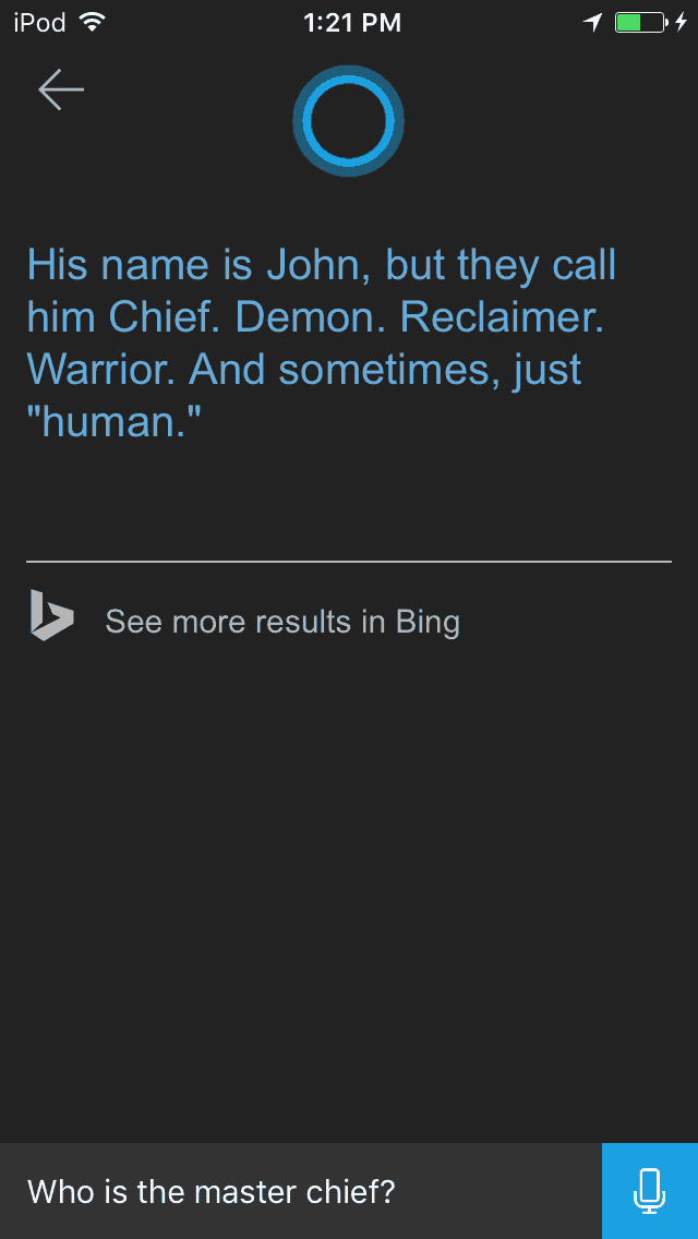 Asking cortana funny questions