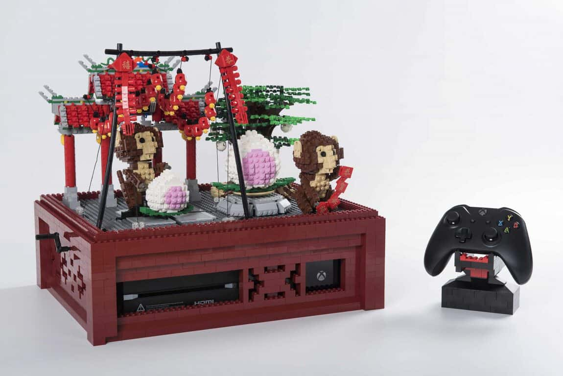 """Good Fortune Monkeys"" custom Xbox One console"