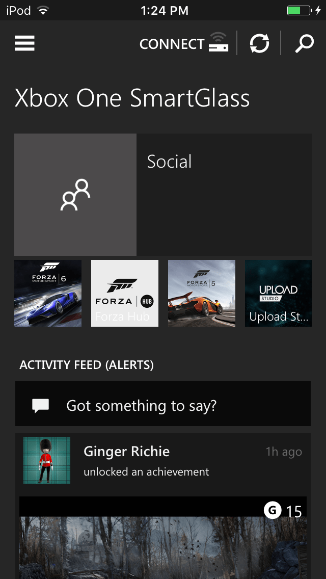 A look at the xbox one smartglass app