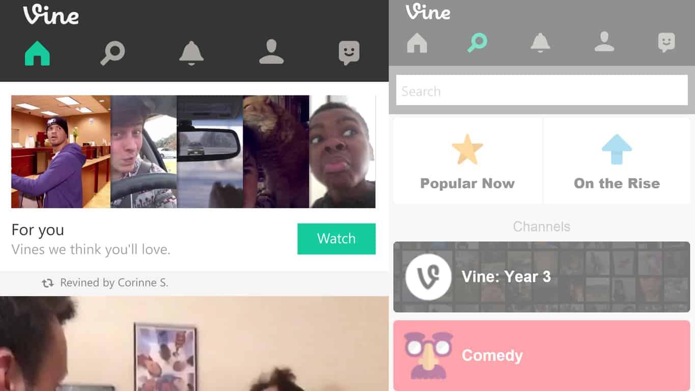 Official Vine app on Windows Phone