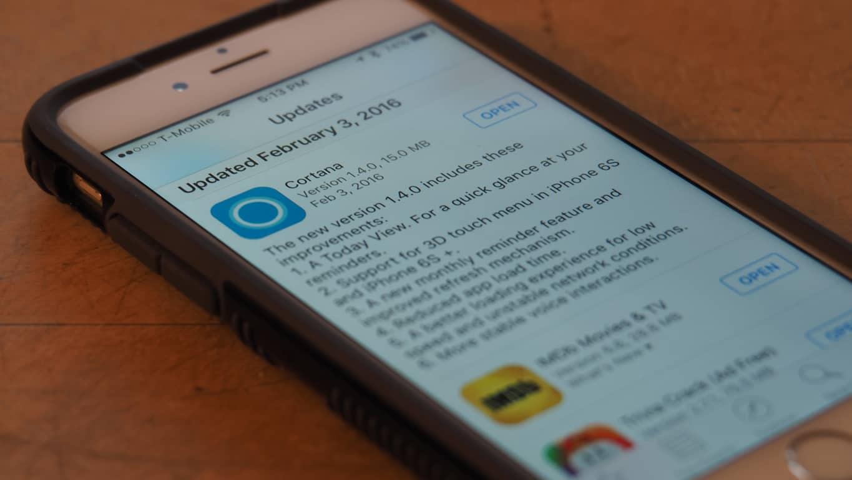 Cortana iPhone update