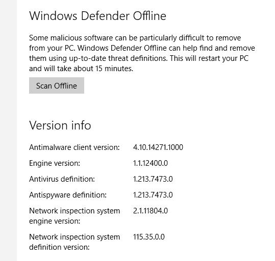Defender_offline