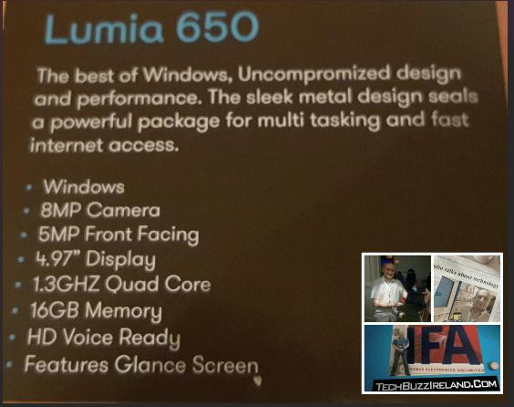 Lumia 650 Ireland price