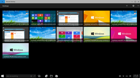 Microsoft remote desktop preview app