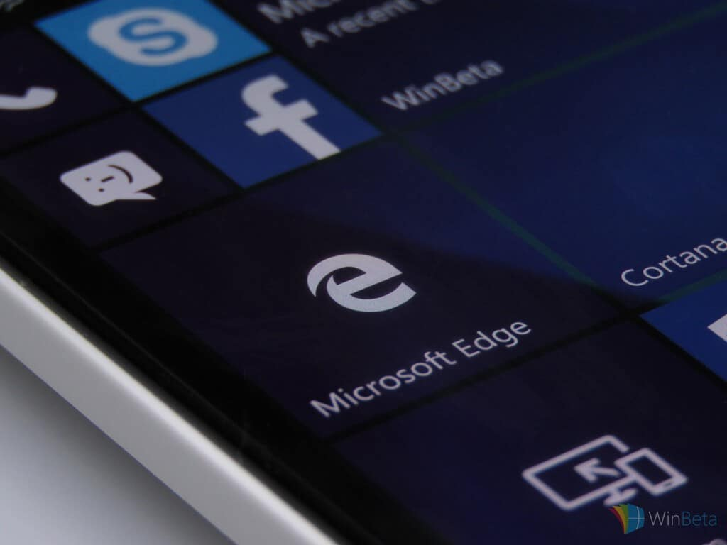 MicrosoftEdgeonWindows10Mobile