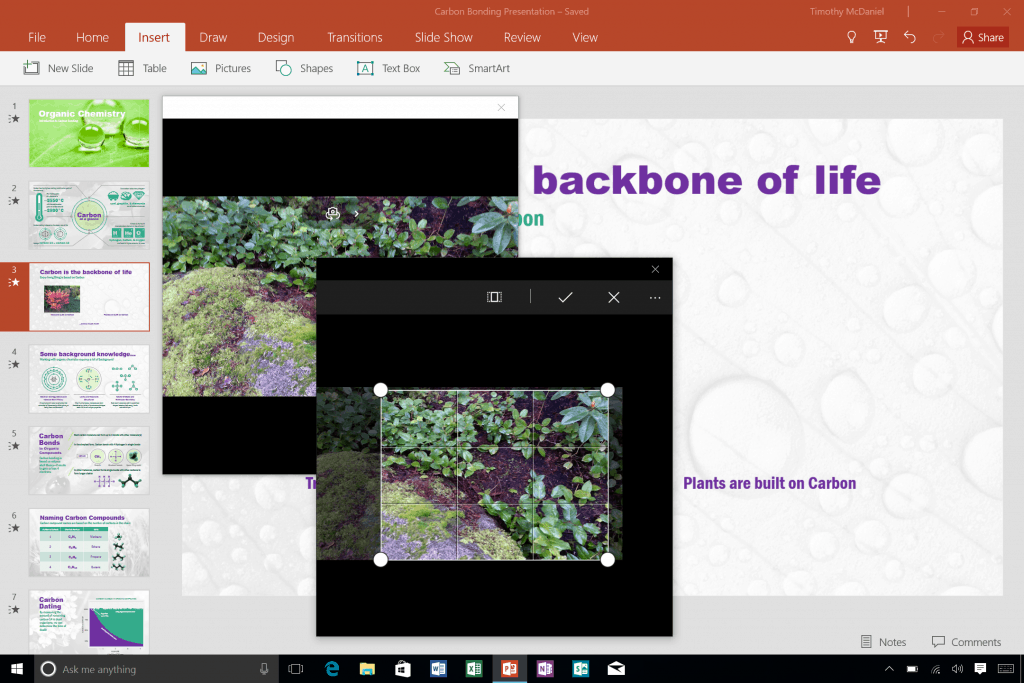 Use your built-in camera to add pictures to Office documents
