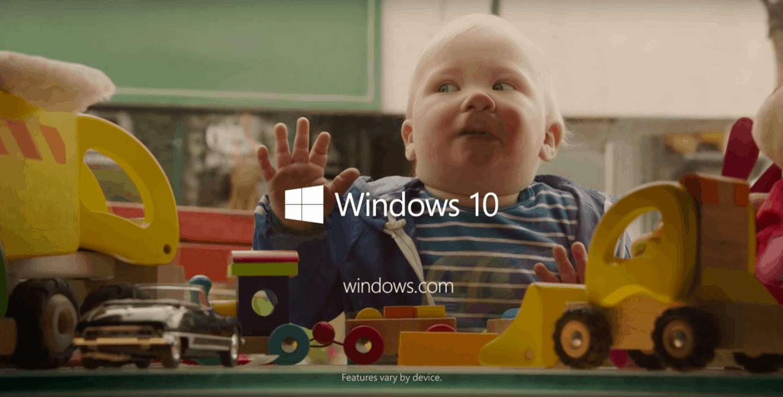 Windows 10 child family