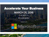 Business and tech leaders get together at microsoft accelerate your business event - onmsft. Com - march 30, 2016