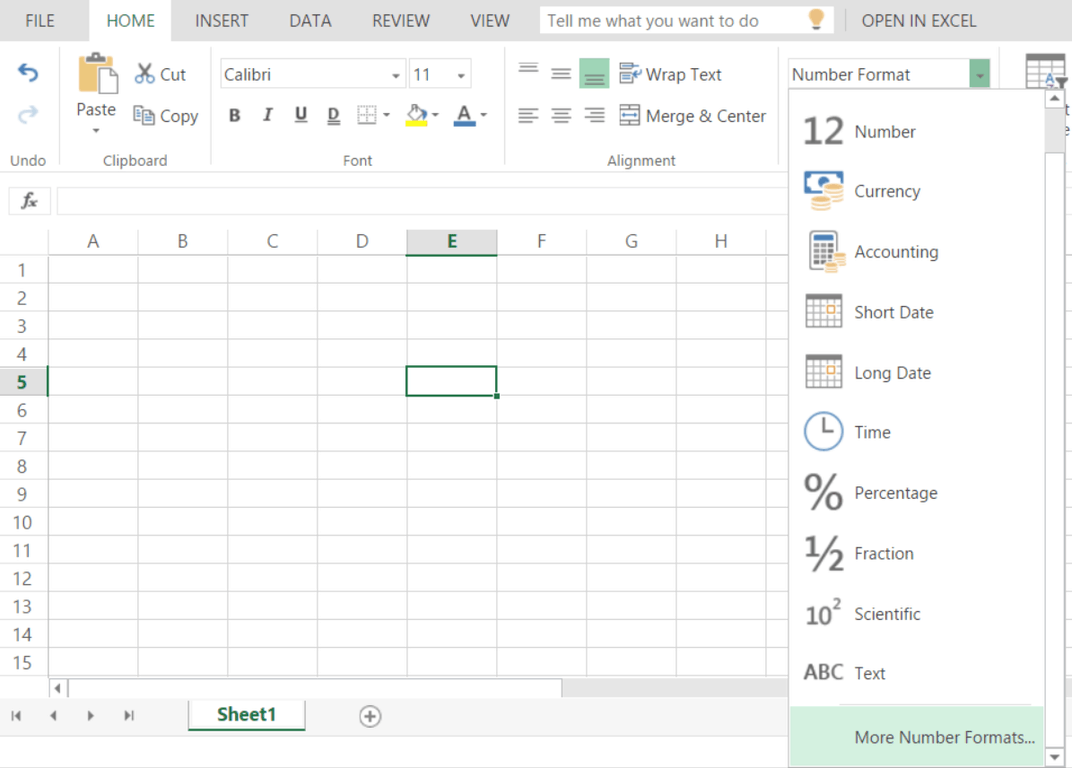 Excel Online features new ways to format data.