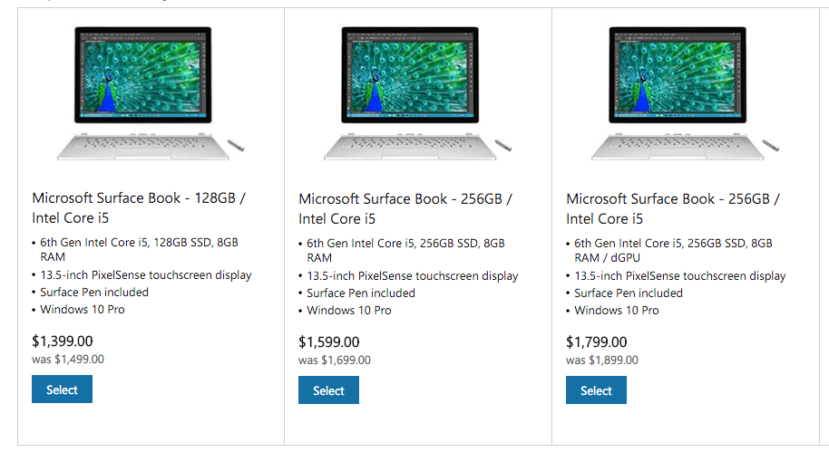 The $100 discount only applies to three select models.