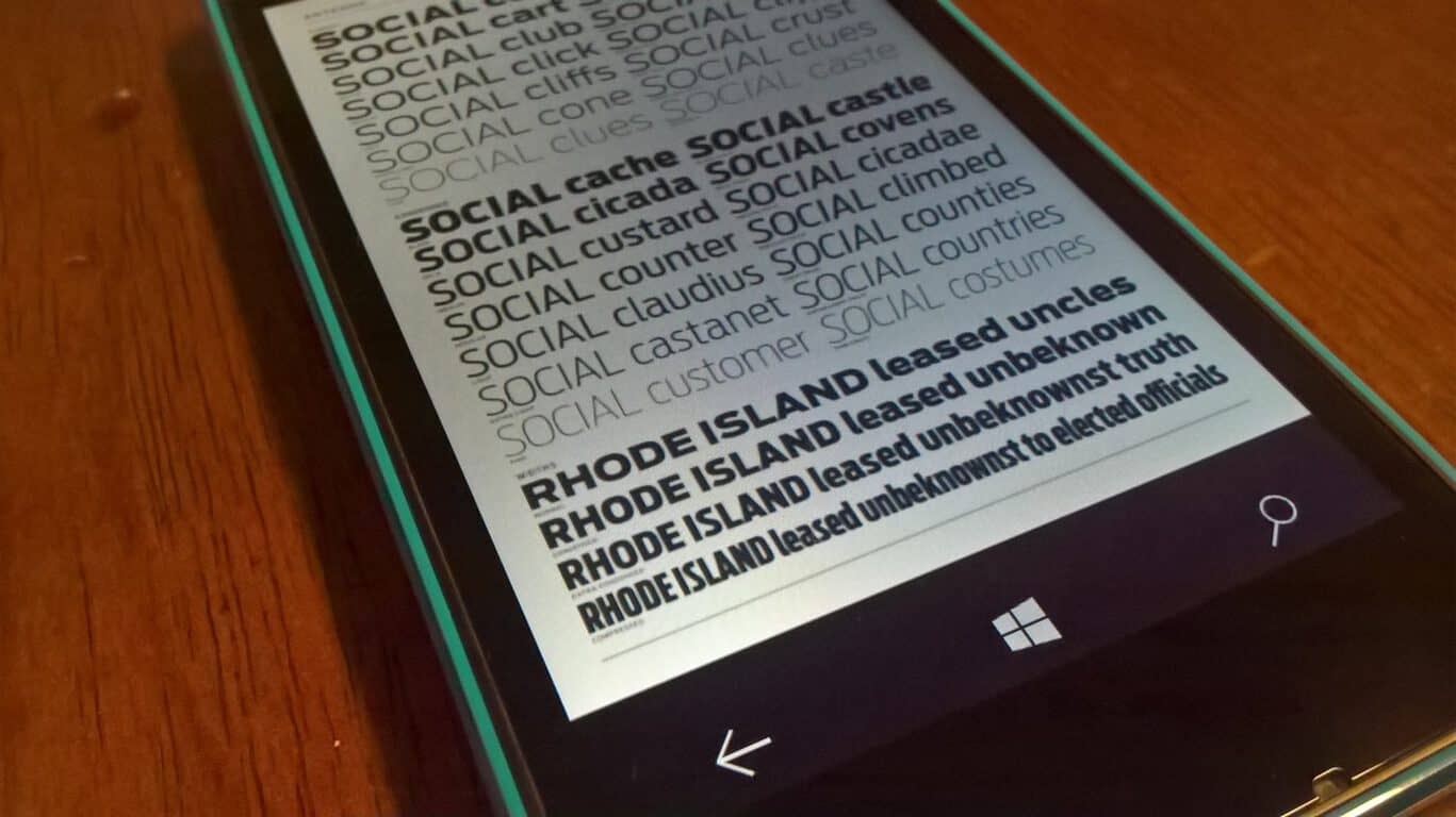 Microsoft details how typography affects user interface design