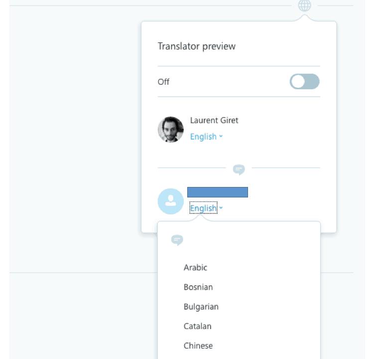 Skype web translator preview
