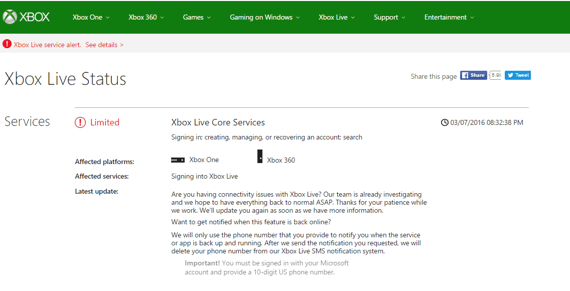 Xbox Live once again suffering from sign-in problems | OnMSFT com