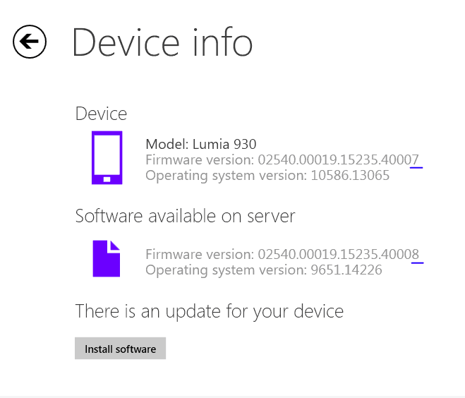 Firmware update for Lumia 930