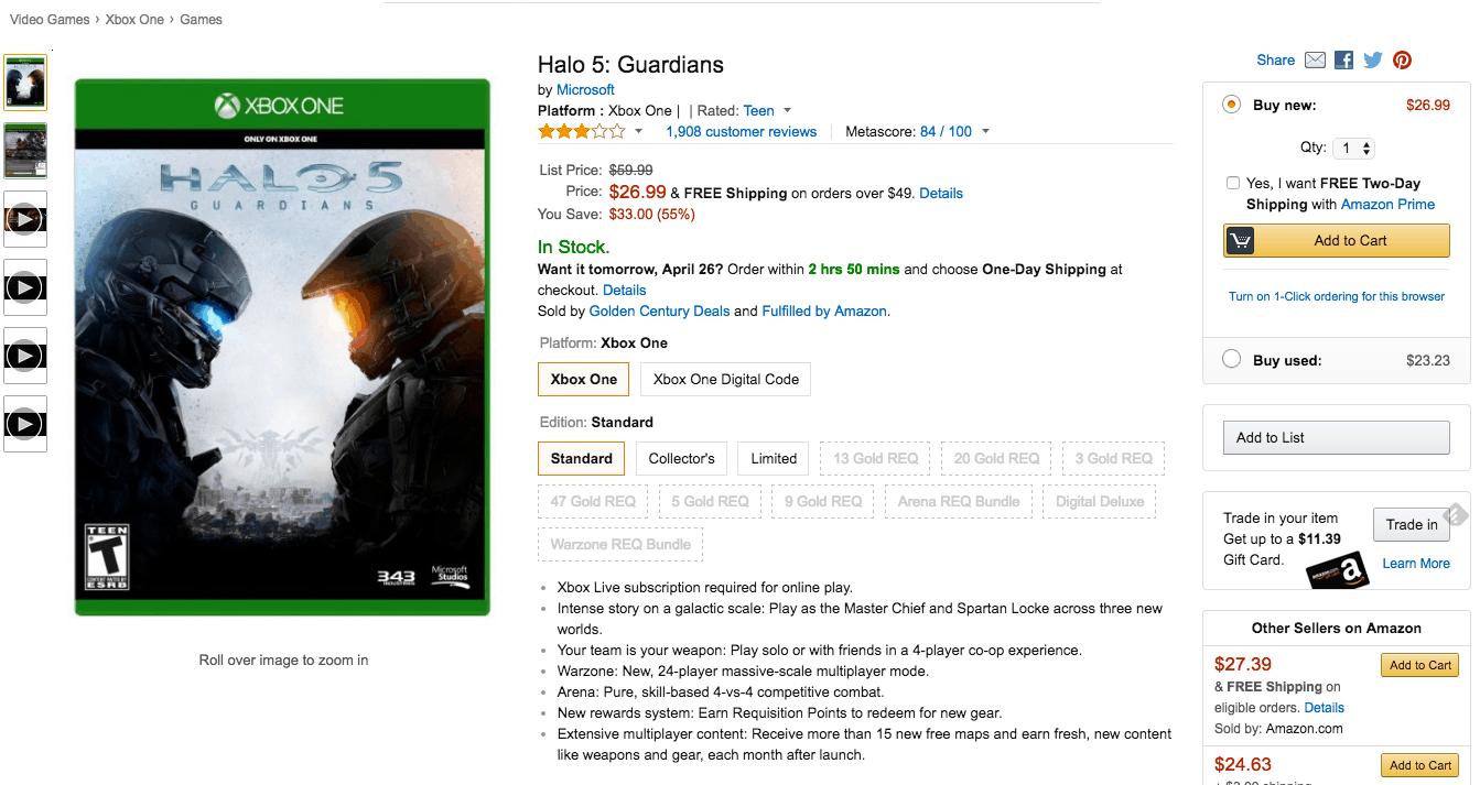 Amazon is discounting 3 different editions of the Xbox One exclusive.