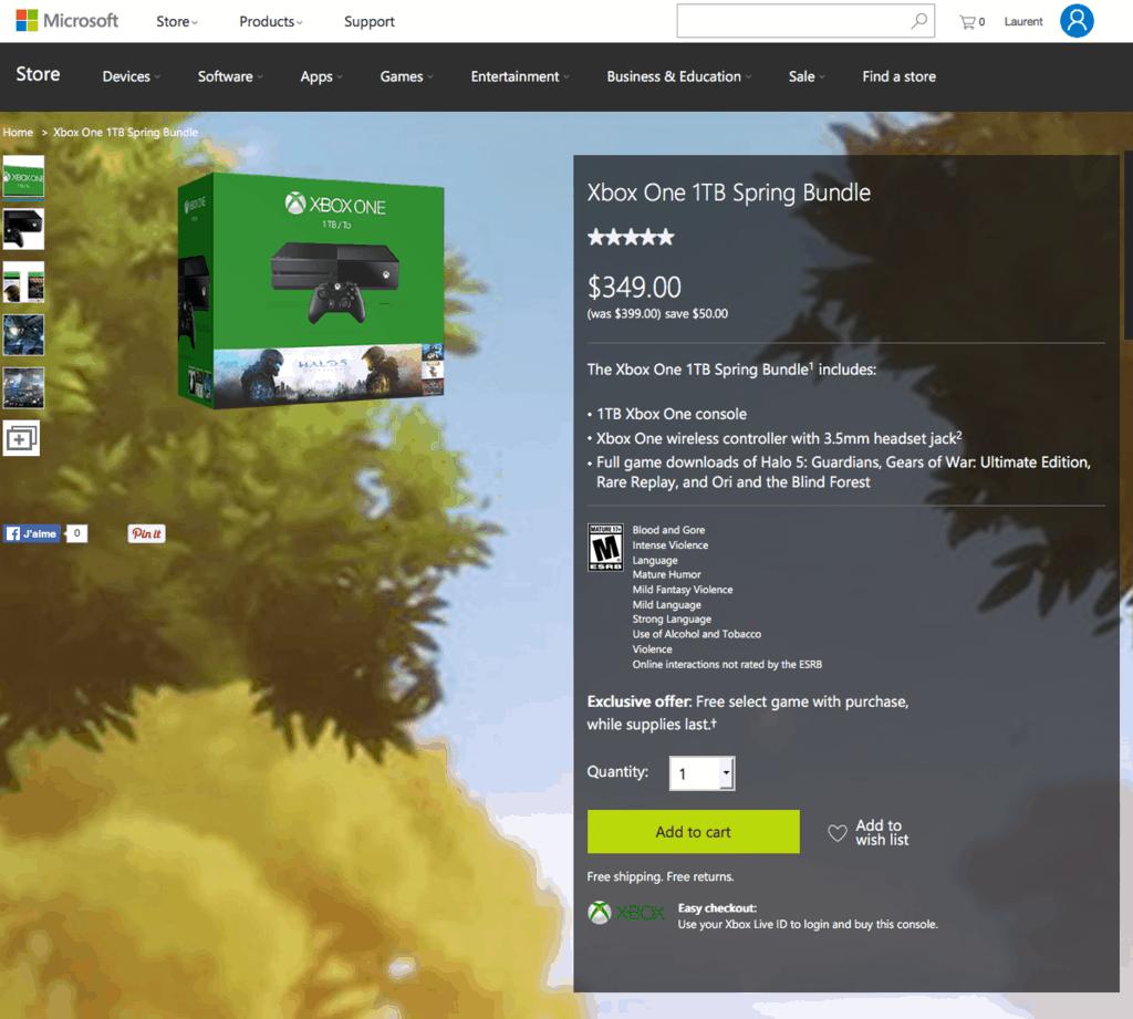 Xbox One 1TB Spring Bundle