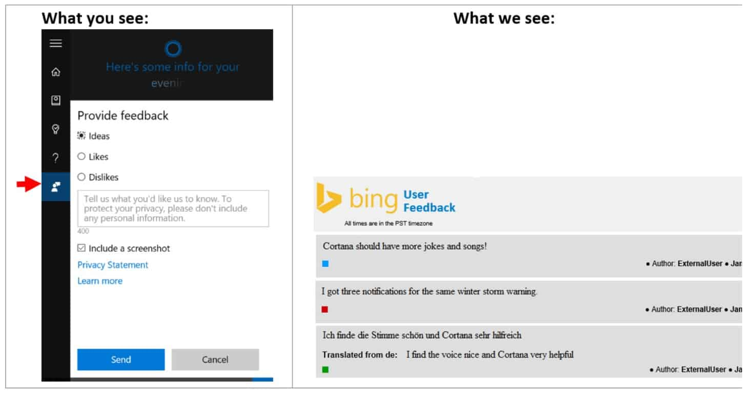 "Cortana-Feedback-Hub Microsoft's latest Windows Insider ""Made by You"" segment focuses on Cortana"