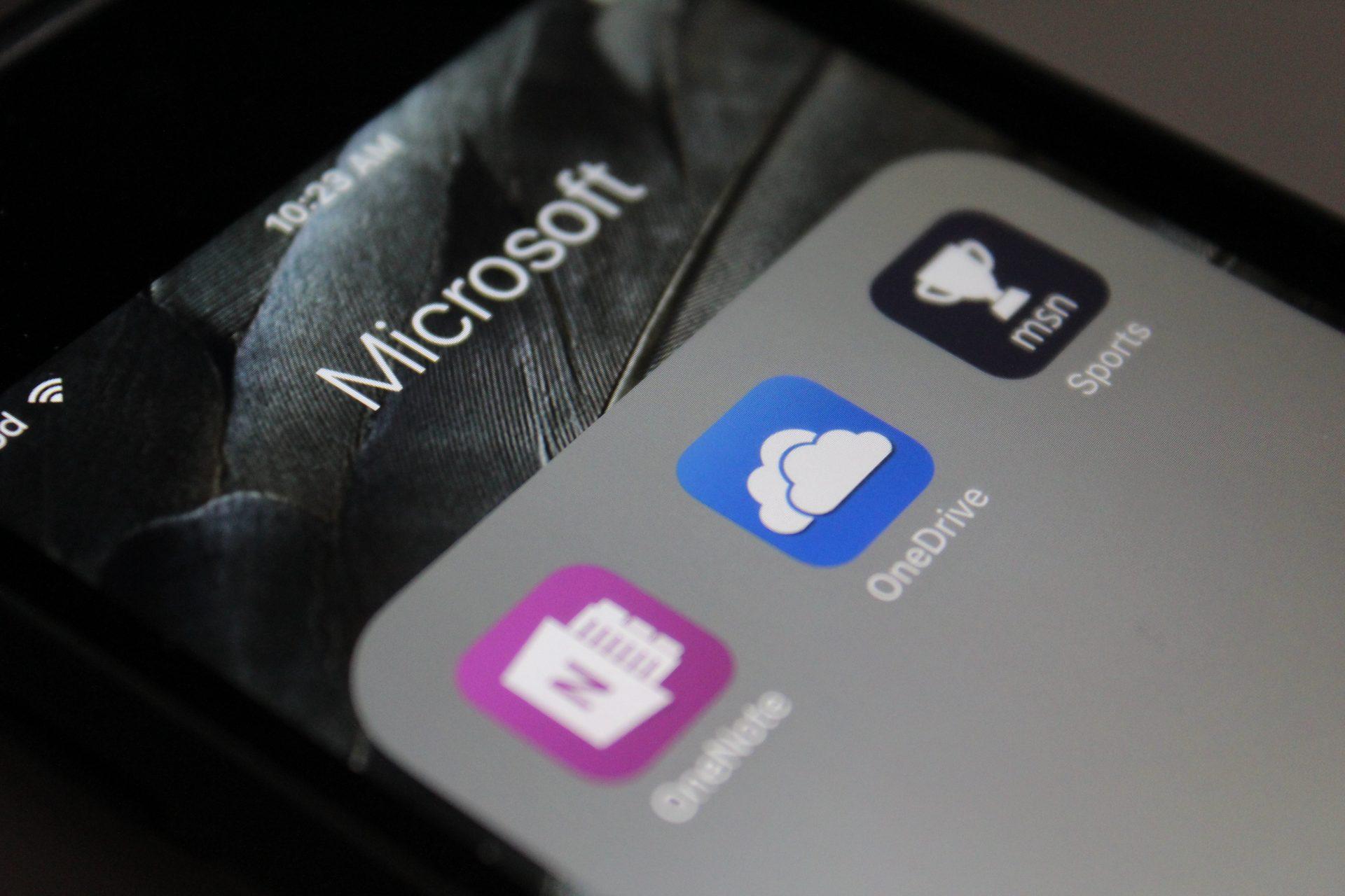 One Drive Microsoft iOS Apps