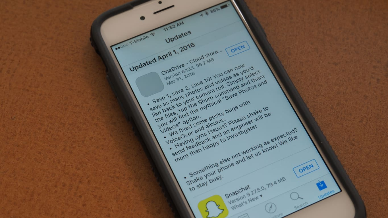 OneDrive iOS Update