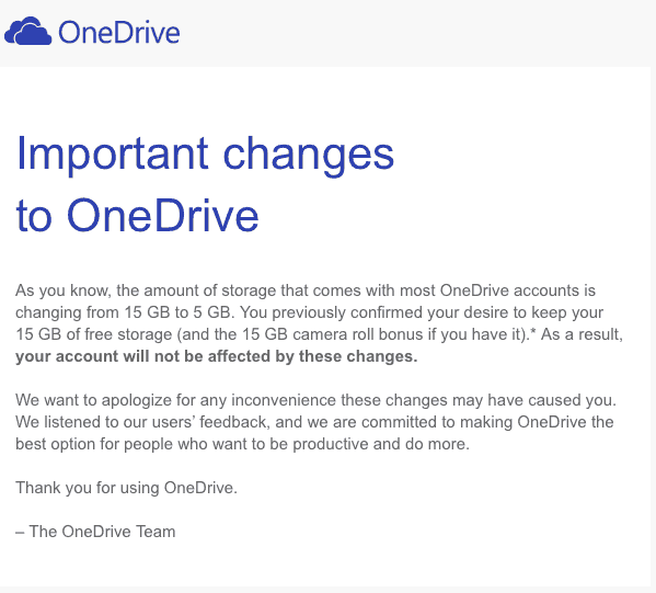 how to change the location of onedrive