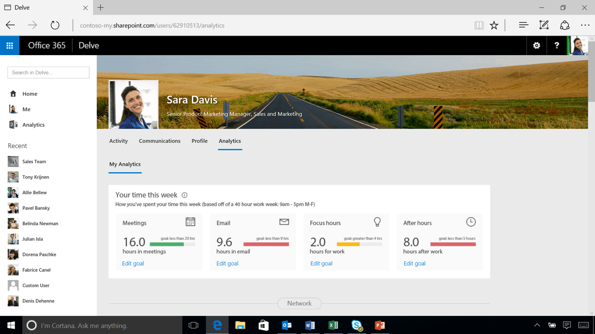 Meet the Delve Analytics Dashboard. Image credit: the Office blog.