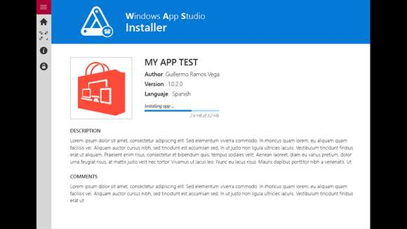 Windows App Studio Installer makes it easier to install and share your apps.