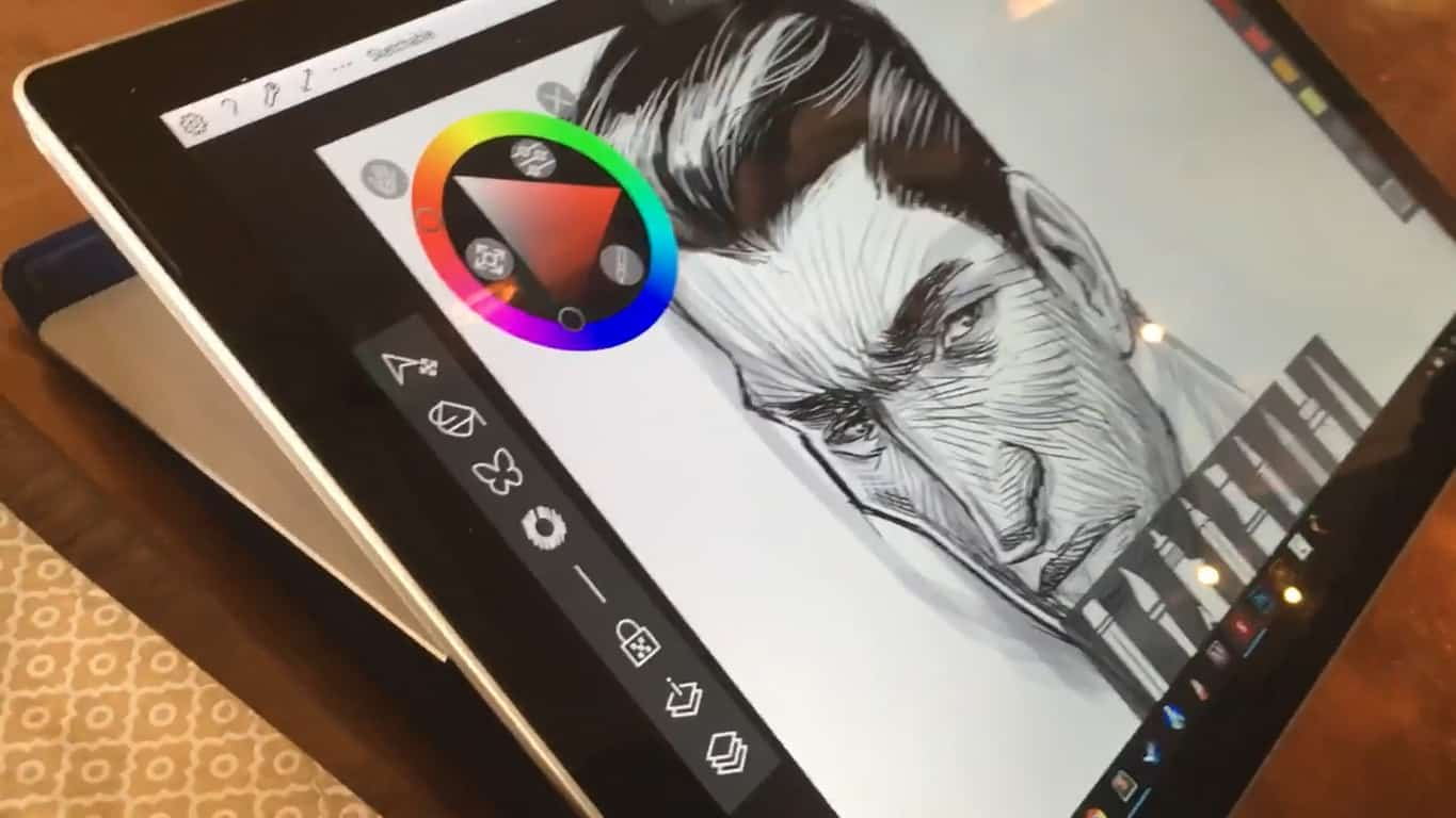 Sketchable app on Surface Pro