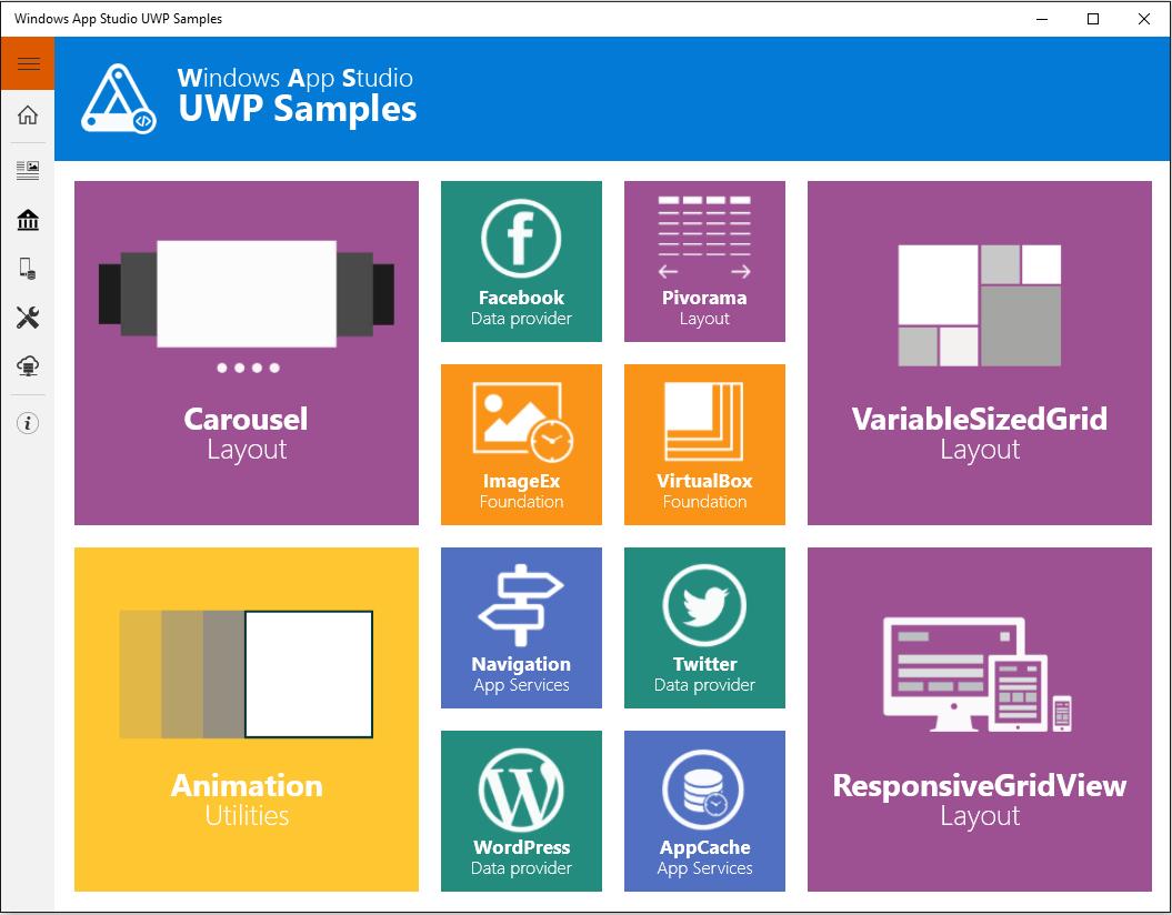 Windows App Studio Uwp Samples App Makes It Easy For