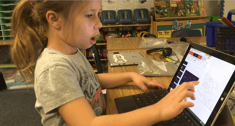 First Grade Teacher Talks About How Onenote Class Notebook Has
