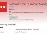 "Edge LastPass extension no longer installs, requires ""build 14359"" OnMSFT.com May 30, 2016"