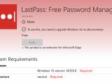 "Edge lastpass extension no longer installs, requires ""build 14359"" - onmsft. Com - may 30, 2016"
