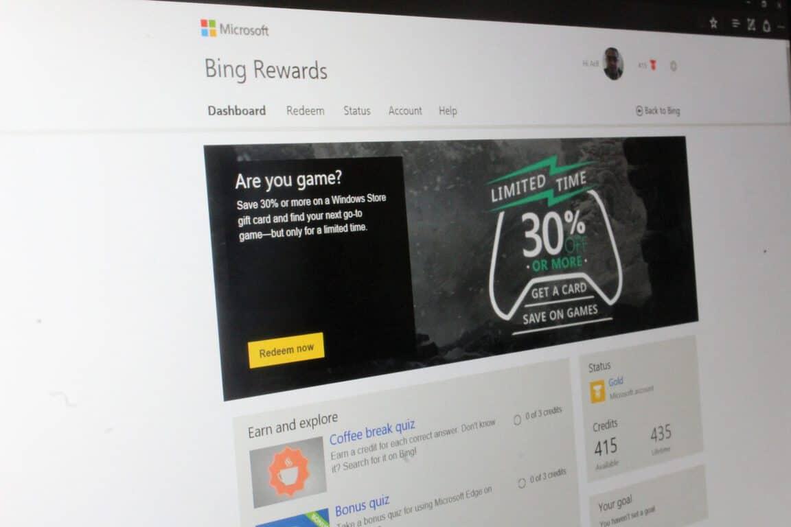 Bing Rewards 30% Off