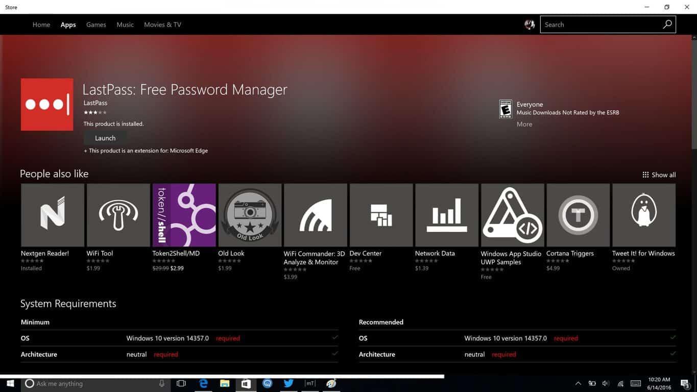LastPass Windows Store