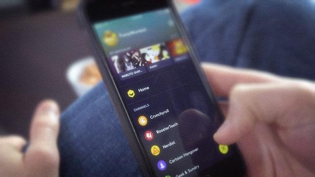VRV smartphone app