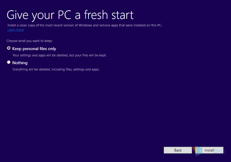 Clean install - to keep or not to keep?